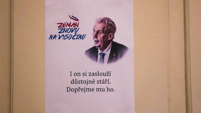 Miloš Zeman si zaslouží důstojné stáří