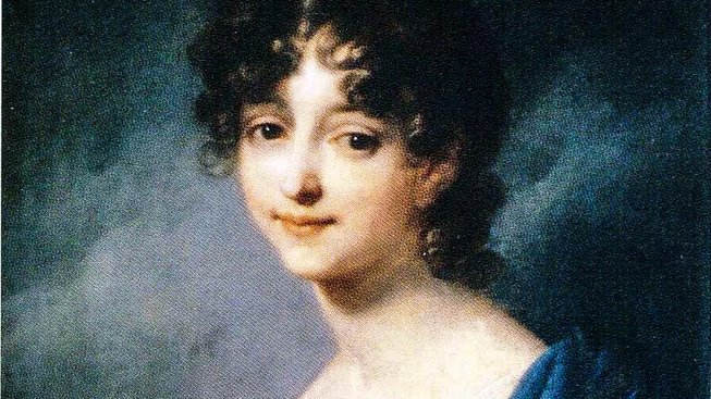 Kateřina Vilemína Zaháňská. Detail malby Josefa Grassiho