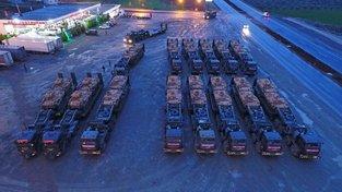 Turecký konvoj, který směřuje do severní Sýrie
