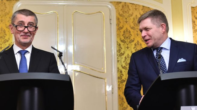 Andrej Babiš a Robert Fico