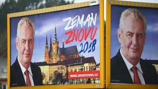 Předvolební kampaň propagující Miloše Zemana