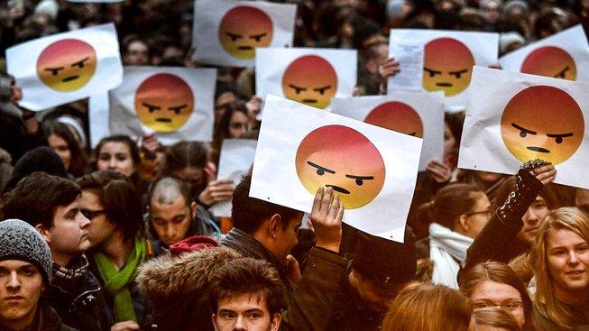 Studentský protest proti maďarské vládě