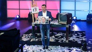 Moderátor a majitel TV Barrandov Jaromír Soukup během středečního vysílání jeho pořadu Kauzy Jaromíra Soukupa