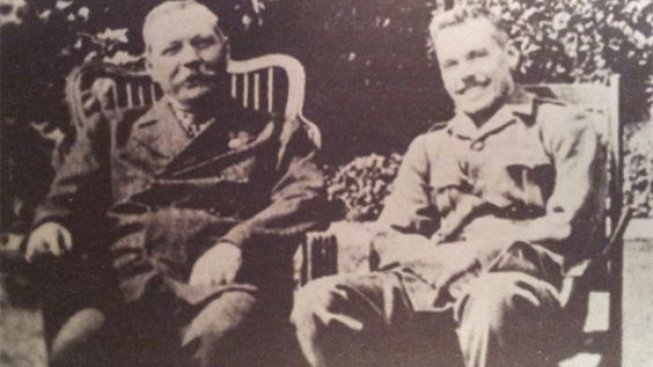 Conan Doyle se synem - kopie