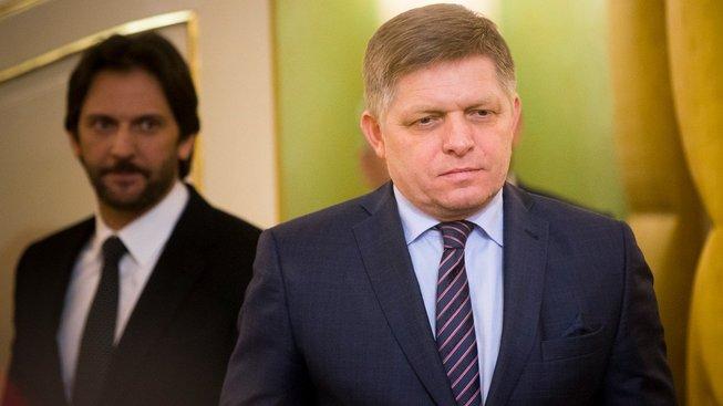 Slovenský premiér Robert Fico a ministr vnitra Robert Kaliňák