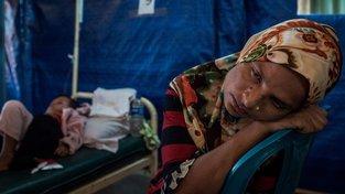 Rohingští uprchlíci v bangladéšském táboře