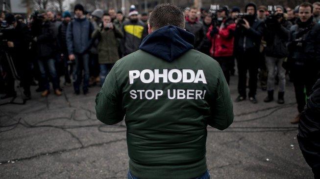 Pražské protesty proti Uberu