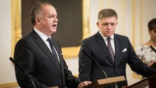 Prezident Andrej Kiska a premiér Robert Fico