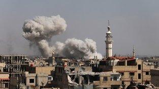 Boje v Ghútě ve východním Damašku trvají už tři týdny
