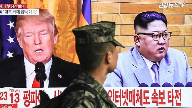 Jihokorejského vojáka zaujala informace o chystané schůzce Donalda Trumpa s Kim Čong-unem