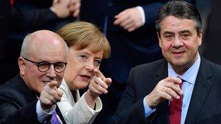 Angela Merkelová v den svého znovuzvolení