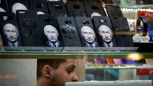 Vladimir Putin je v Rusku na každém kroku