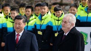 Návštěva čínského prezidenta v Praze