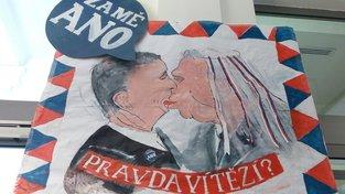 Studenti protestovali i proti Andreji Babišovi a Miloši Zemanovi