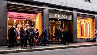 Obchod Gucci v milánské Via Monte Napoleone