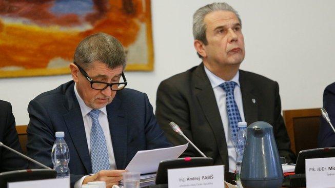 Andrej Babiš a Michal Murín