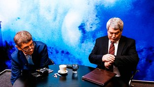 Andrej Babiš a Vojtěch Filip