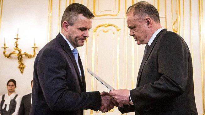 Andrej Kiska a Peter Pellegrini