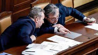 Ministr zahraničí Martin Stropnický a ministr životního prostředí Richard Brabec
