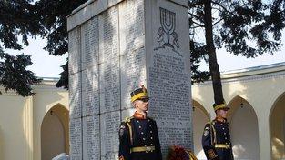 Pomník obětem z lodi Struma na bukurešťském židovském hřbitově
