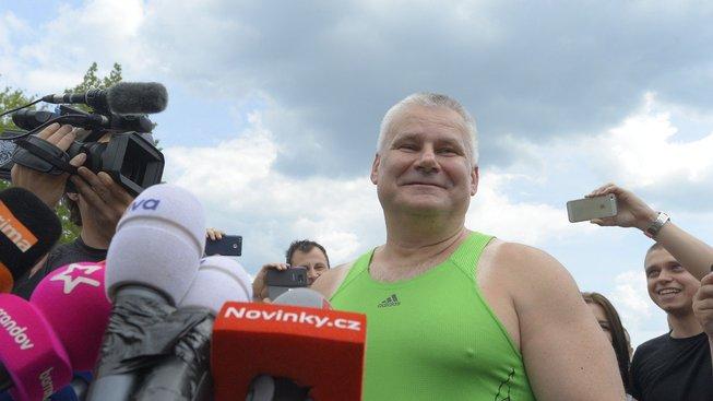 Jiří Kajínek v den propuštění