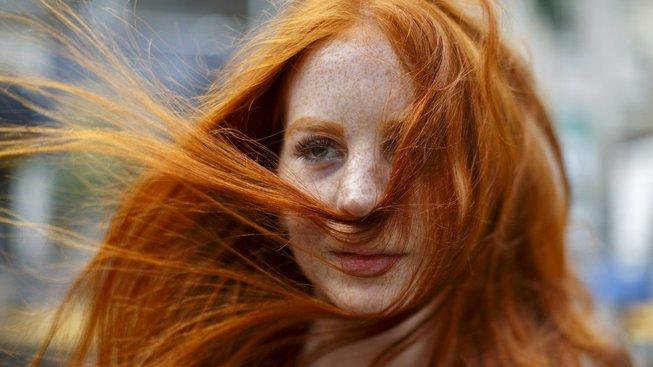 Účastnice festivalu Redhead Day v nizozemské Bredě