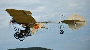 Replika letounu Grade, na kterém Laglerová absolvovala pilotní výcvik