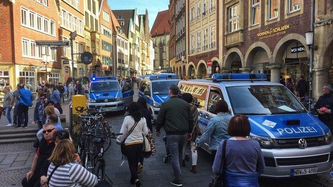 Incident se stal v historické části západoněmeckého města Münster
