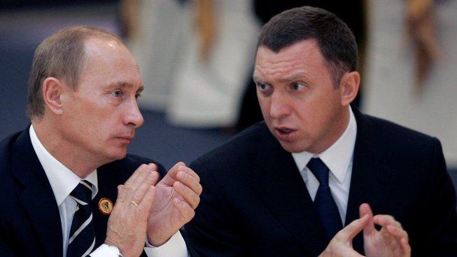 Vladimir Putin s Olegem Děripaskou