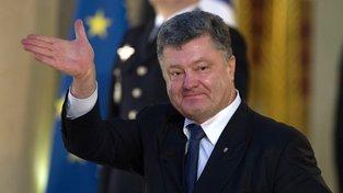 Ukrajinský prezident Petro Porošneko