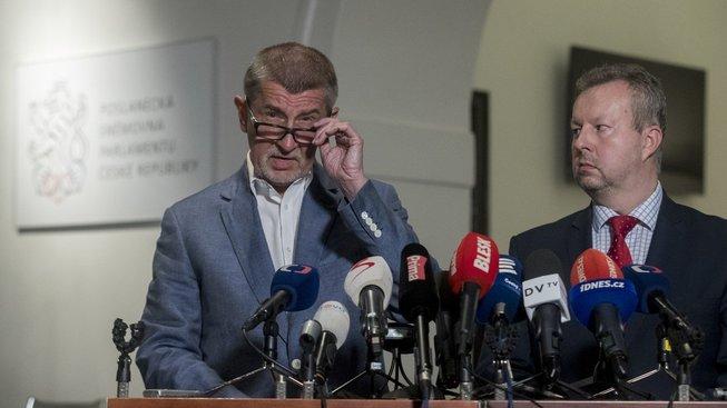 Předseda hnutí ANO Andrej Babiš nabízí ČSSD další jednání o vzniku vlády