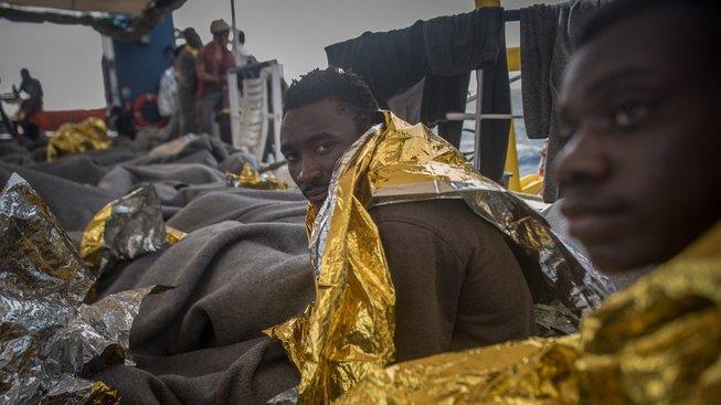 Migranti zachránění u italského pobřeží