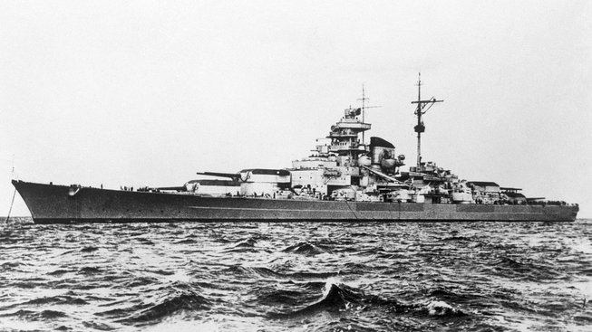 Německá loď Tirpitz byla svého času největší bitevní lodí na světě