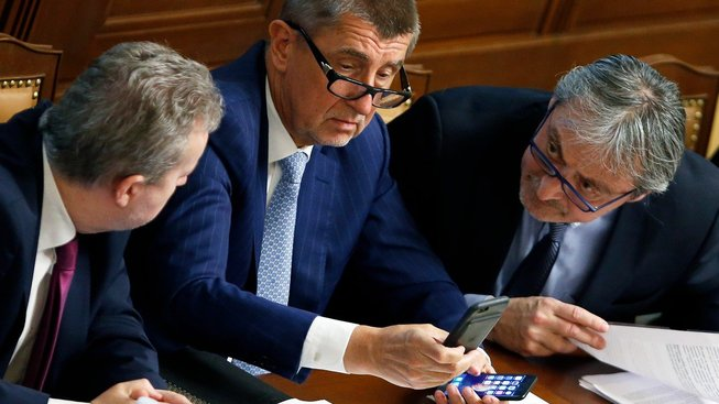 Richard Brabec, premiér v demisi Andrej Babiš a ministr zahraničí v demisi Martin Stropnický