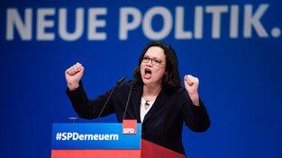 Nová šéfka německé SPD Andrea Nahlesová