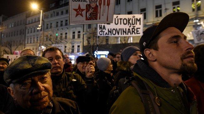Jedna z letošních demonstrací, mimo jiné za svobodu tisku