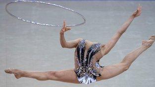 Účastnice Rhytmic Gymnastics World Cup v italském městě Pesaro