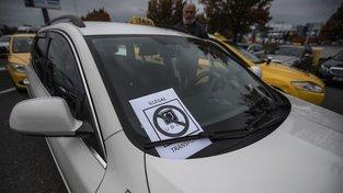 Pražský protest proti Uberu