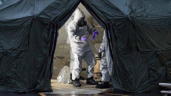 Výzkumníci britské armády studují místo kontaminované novičokem