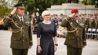 Ministryně obrany v demisi Karla Šlechtová se zúčastnila slavnostního aktu na Vítkově