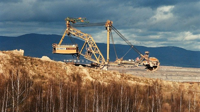 Uhelná těžba na Mostecku