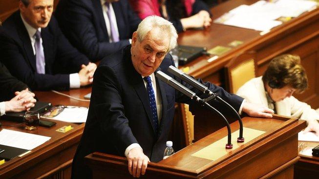 Prezident Miloš Zeman v Poslanecké sněmovně ČR