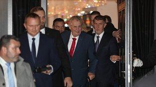 Andrej Babiš napřed míní prozradit jména ministrů prezidentovi Miloši Zemanovi