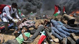 Pondělní protesty v Gaze si vyžádaly 58 obětí