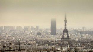 Znečištěné ovzduší v Paříži