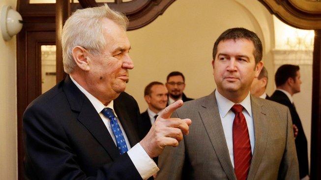 Prezident Miloš Zemana a předseda ČSSD Jan Hamáček