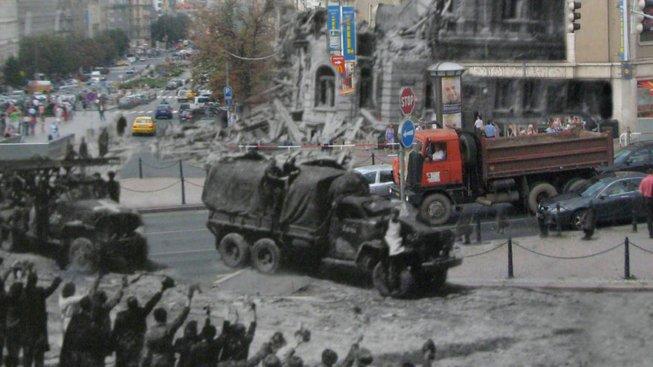Tehdy a nyní. Václavské náměstí v roce 1945, 1968 a 2008