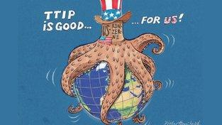 Hanitzschova karikatura na adresu TTIP