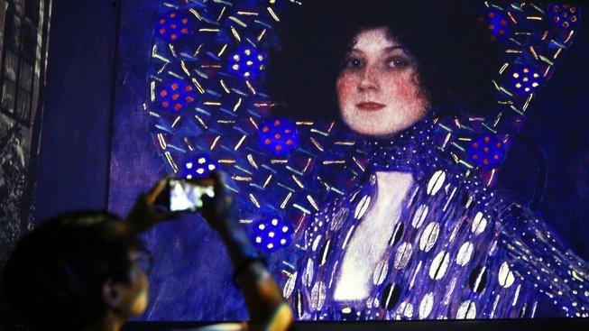 Klimtův obraz Portrét Emilie Flöge