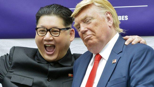 """""""Dvojníci"""" Kim Čong-una a Donalda Trumpa"""
